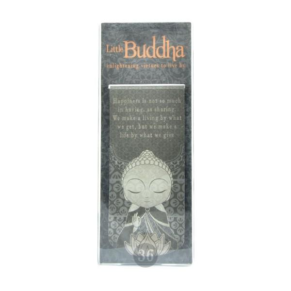 """""""Little Buddha"""" magnetisches Lesezeichen, schwarz"""