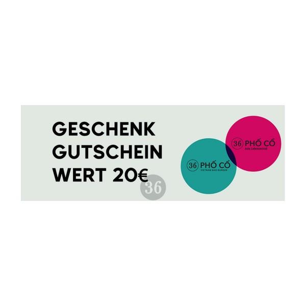 Geschenkgutschein - 20€