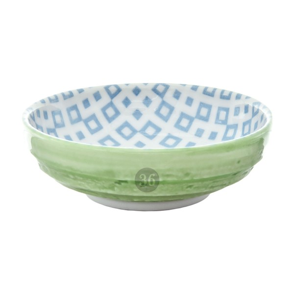 "Tokyo Design - ""Geometric Green"" Bowl, 9,5x3cm"
