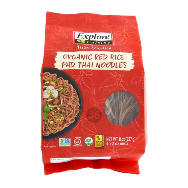 Explore Cuisine - Rote Bio-Reis Pad Thai-Nudeln, 227g