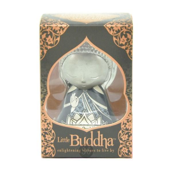 Little Buddha Schlüsselanhänger in silber/schwarz