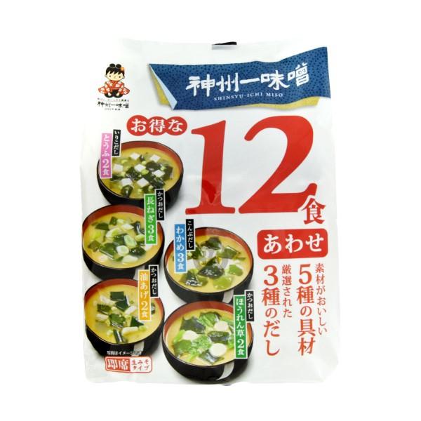 Shinsyuichi - Instant-Miso-Suppe mit 5 versch. Geschmacksrichtungen, 12 Portionen