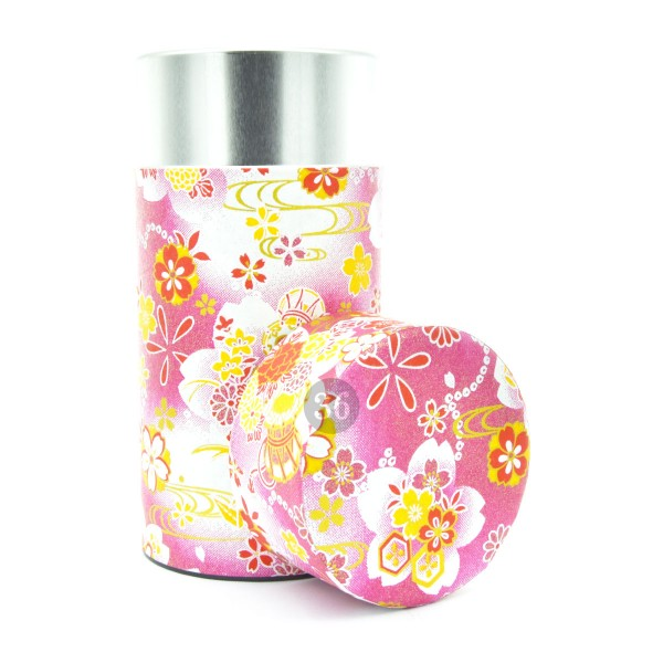 Teedose(hoch) Blumen/rosa
