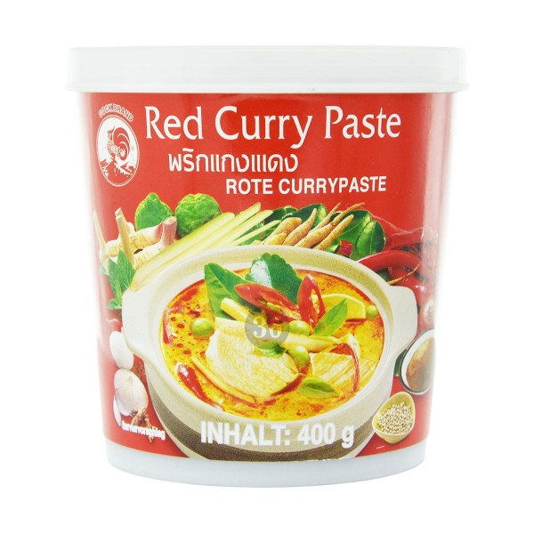 Cock Brand - Rote Curry-Paste, 400g