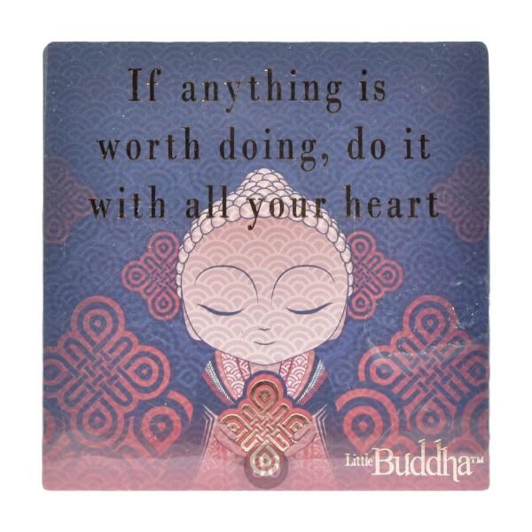 """Little Buddha"" Magnet, lila"