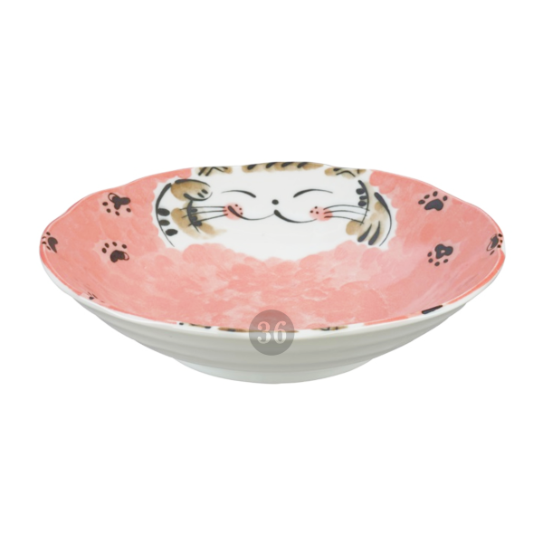 "Tokyo Design - ""Fuku Cat Red"" Bowl, 21x5cm"