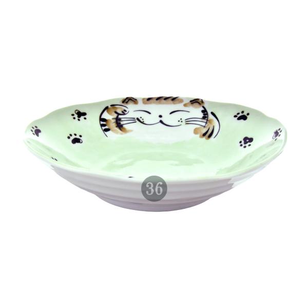 "Tokyo Design - ""Fuku Cat Green"" Bowl, 21x5cm"