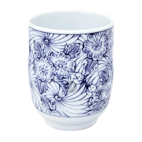 """""""Blue Flowers"""" Becher, 6,4x8cm"""