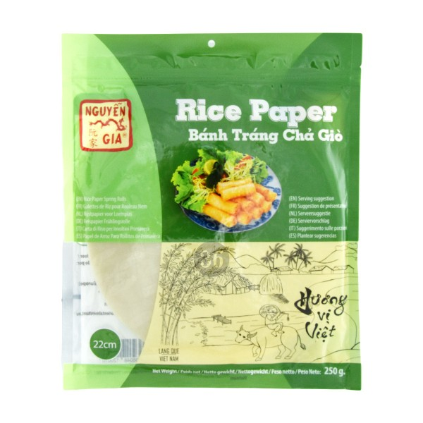 Nguyen Gia - Reispapier für Frühlingsrollen, 250g