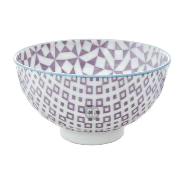 "Tokyo Design - ""Geometric Purple"" Bowl, 12x6,5cm"