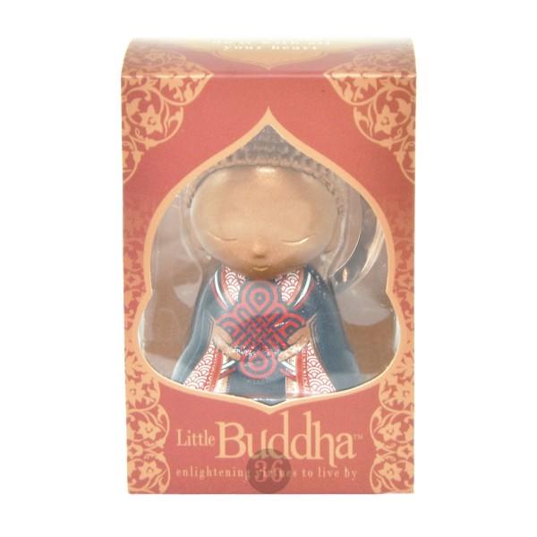 Little Buddha Schlüsselanhänger in bronze/dunkelblau