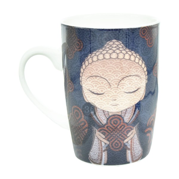 Little Buddha Tasse rot/blau