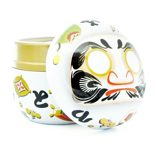 Teedose weiß/Gesicht