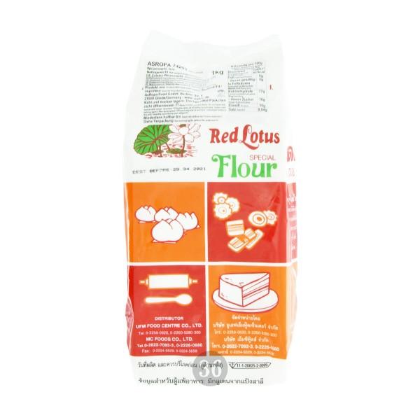 Red Lotus - Feines Weizenmehl für Bapao, 1kg