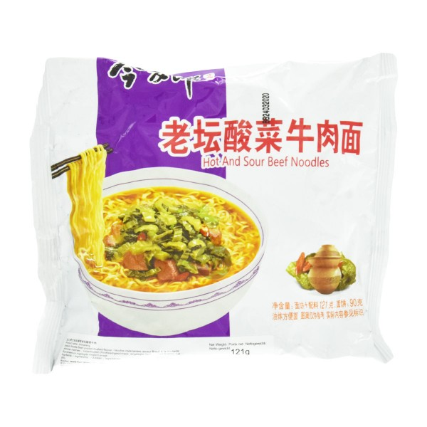 "Jinmailang - Instantnudeln ""Hot&Sour Beef"", 121g"