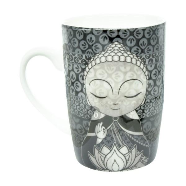 Little Buddha Tasse schwarz/grau