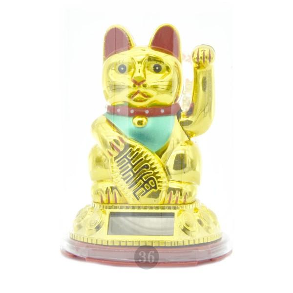 """Winkekatze """"gold"""", 11cm"""