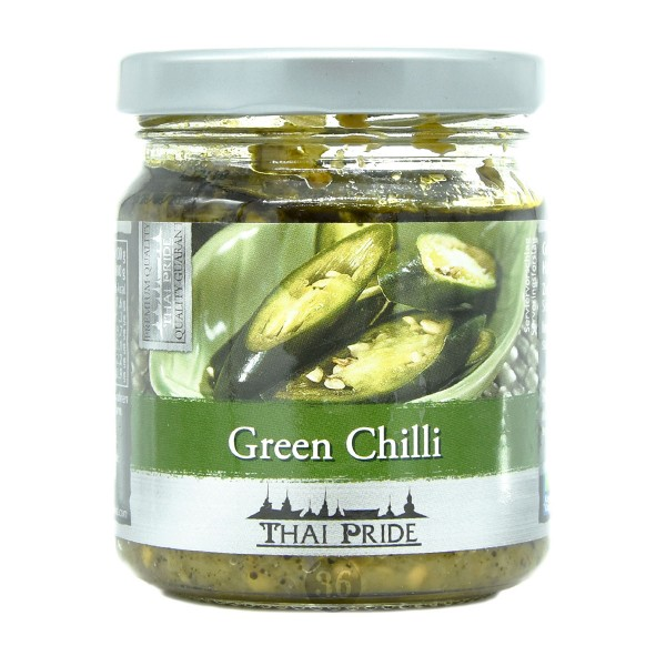 Thai Pride - Grüne Chilis in Öl, 180g
