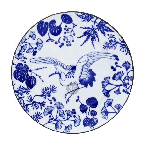 """Tokyo Design - """"Flora Japonica Kranich"""" Teller, 25,7x3cm"""