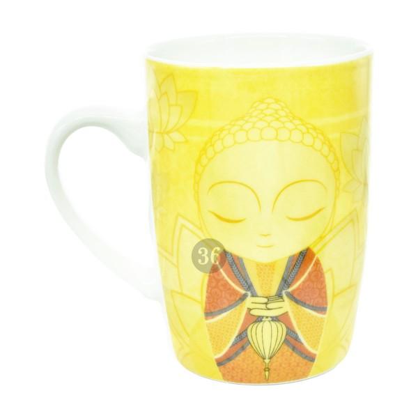 Little Buddha Tasse gelb/orange