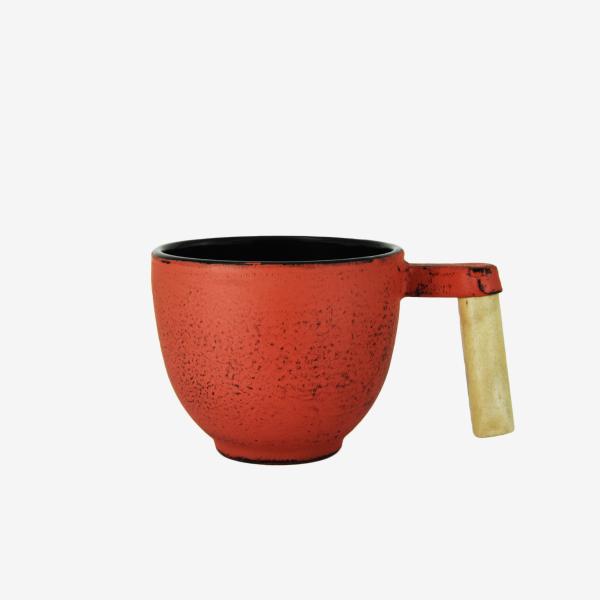 Trinkgefäß Gusseisen rot, 0,2l