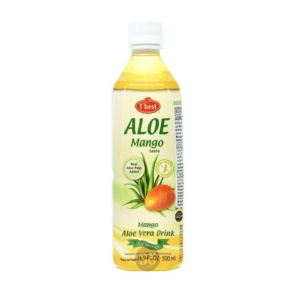 T'best - Aloe-Vera-Getränk mit Mangogeschmack, 500ml