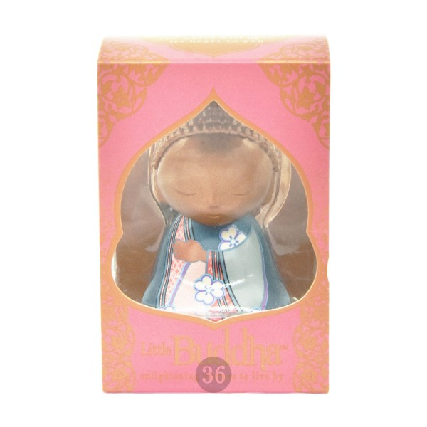 Little Buddha Schlüsselanhänger in bronze/blau