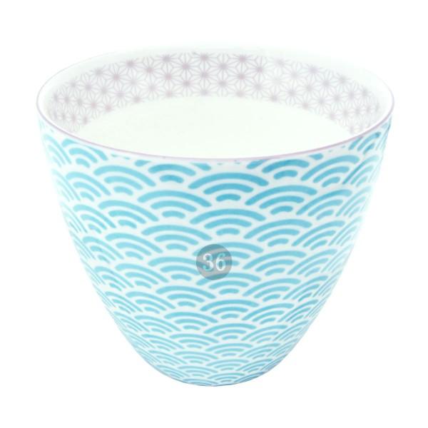 """Tokyo Design - """"Star/Wave Light Blue"""" Becher, 350ml"""