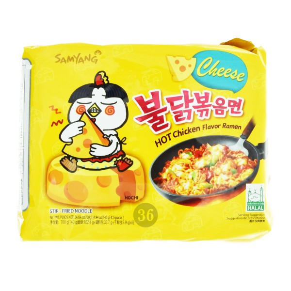 "Samyang - Instantnudeln ""Hot Chicken Cheese"", 5er Pack"