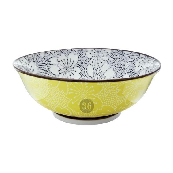 "Tokyo Design - ""Sakura Dot Black/Yellow"" Bowl, 19,7x7cm"
