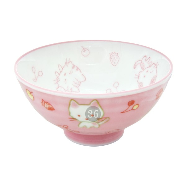 """Tokyo Design - """"Kawaii Pink Cat"""" Bowl, 10,5x5cm"""