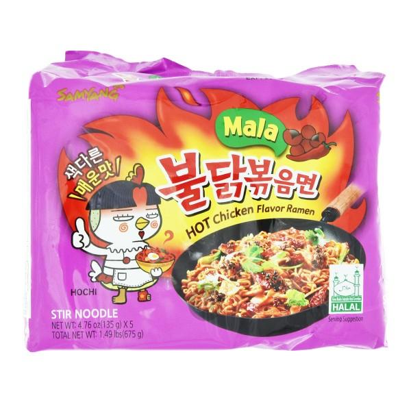 """Samyang - Instantnudeln """"Hot Chicken Mala"""", 5er Pack"""