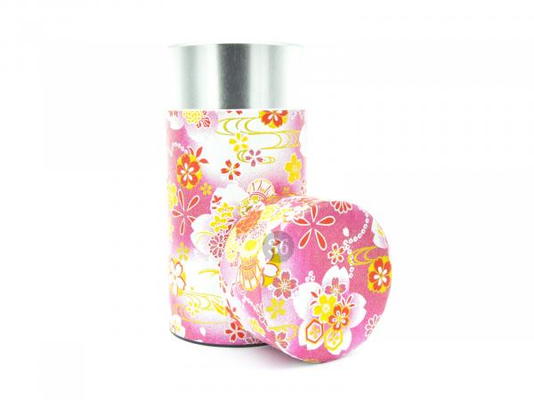 PINK FLOWER TEA CONTAINER | Ø7,4CM | H15,5CM | 200GR
