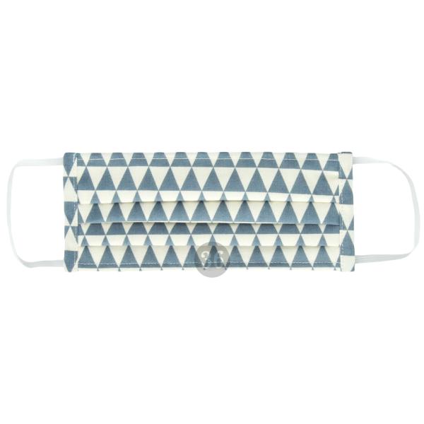 """Mund- und Nasenschutz """"Dreieck Altblau"""", klein"""