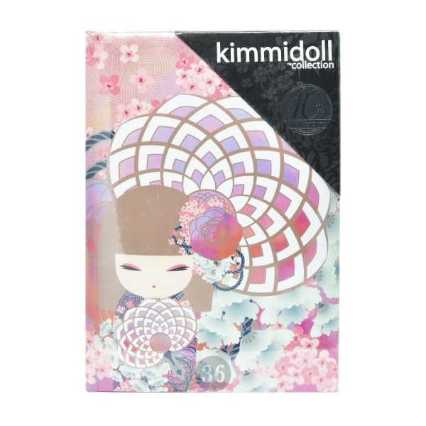 """Kimmidoll"" Notizbuch 10th Anniversay rot/floral"