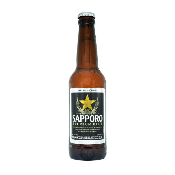 Sapporo - japanisches Bier, 0,33ml