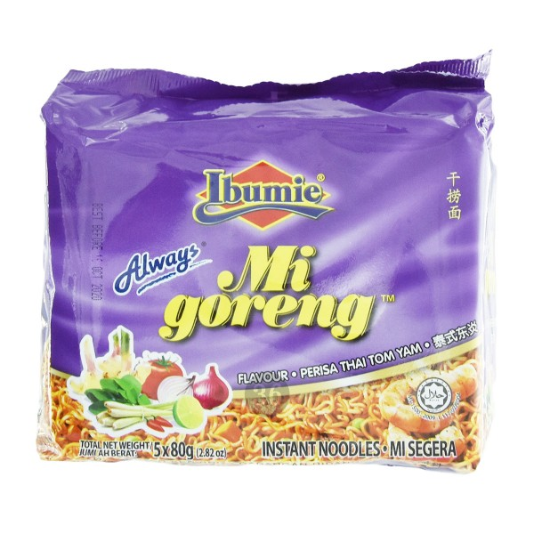 "Ibumie - Instantnudeln ""Tom Yam"", 5er Pack"