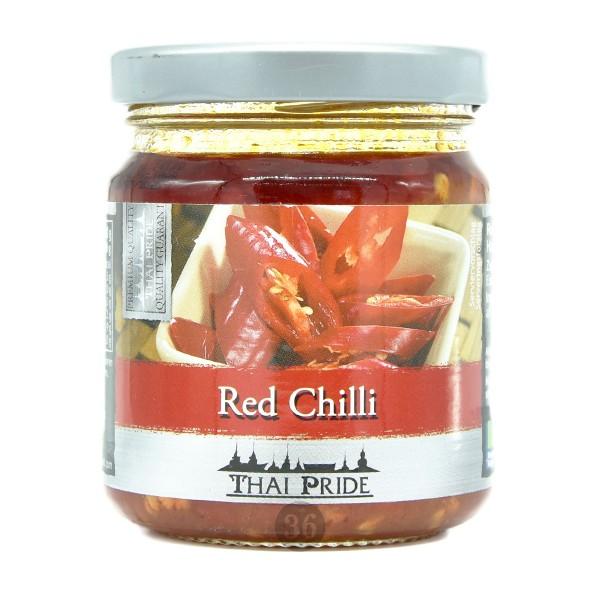 Thai Pride - Rote Chilis in Öl, 180g