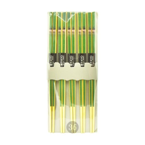 """Tokio Design Studio - Essstäbchen aus Bambus """"grün"""", 5 Paar"""