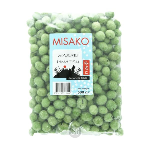 Misako - Erdnüsse in Wasabi-Teigmantel - Scharf,500g