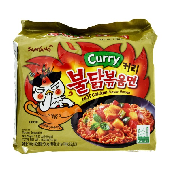 "Samyang - Instantnudeln ""Hot Curry"", 5er Pack"