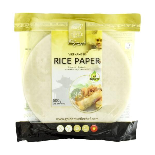 Golden Turtle - Reispapier für Frühlings-/Sommerrollen, 500g