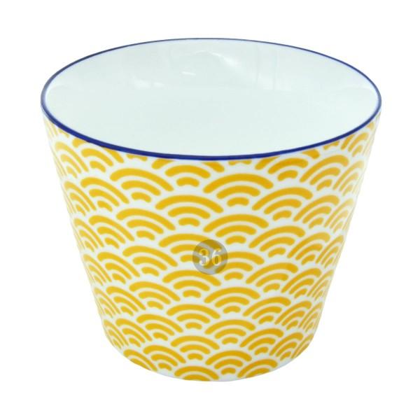 "Tokyo Design - ""Wave Yellow"" Becher, 180ml"