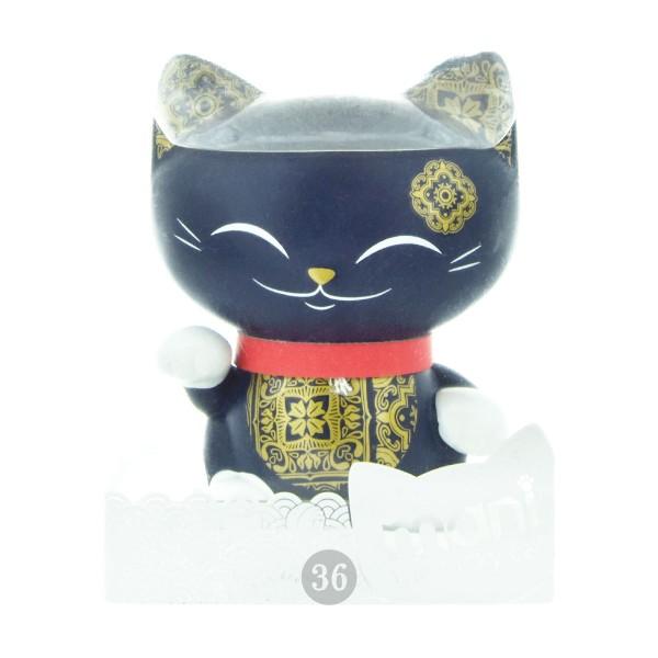 """Mani the lucky Cat Deko-Figur """"dunkelblau"""", 7cm"""
