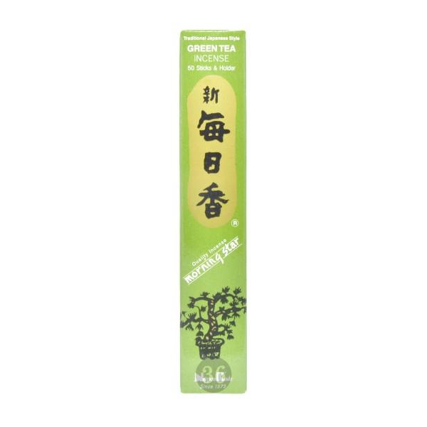 """Nippon Kodo - Räucherstäbchen """"Grüner Tee"""" inkl. Halterung, 50Stück"""
