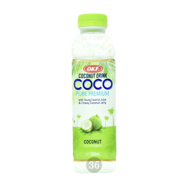 OKF - Kokos-Drink mit Kokosgel, 500ml