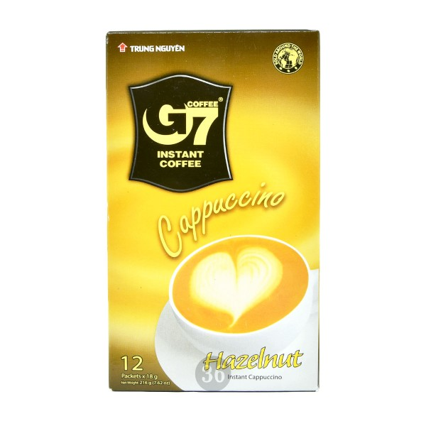 Trung Nguyen - Instant-Cappuccino Haselnussgeschmack, 216g