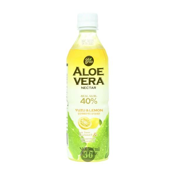 All Groo - Aloe-Vera-Getränk mit Yuzu-Geschmack, 500ml