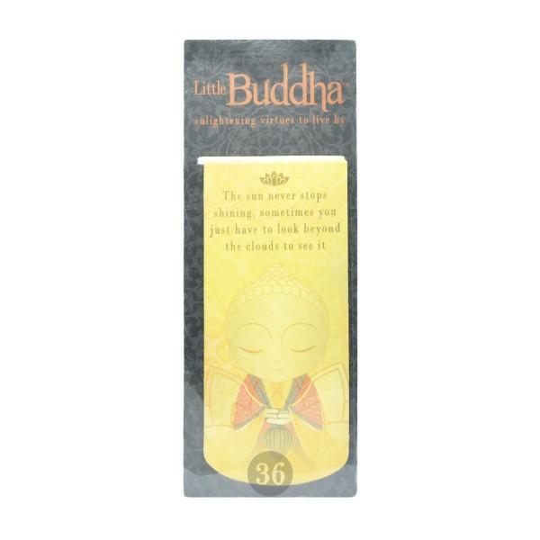 """""""Little Buddha"""" magnetisches Lesezeichen, gelb"""