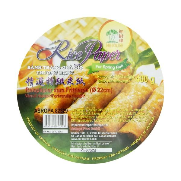 TCT - Reispapier für Frühlingsrolle, 400g